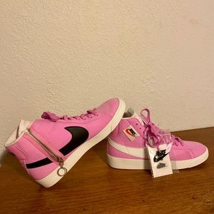 Women's Nike Blazer Rebel Mid Pink - NEVER WORN